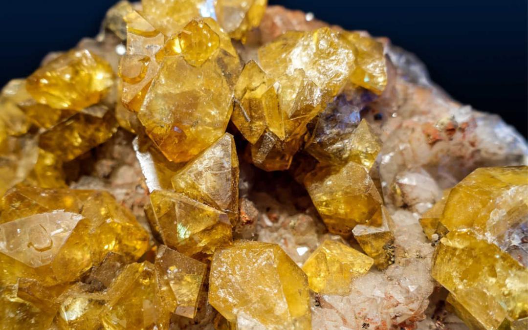 Crystal in depth citrine